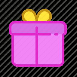 birth, box, day, pink, present icon