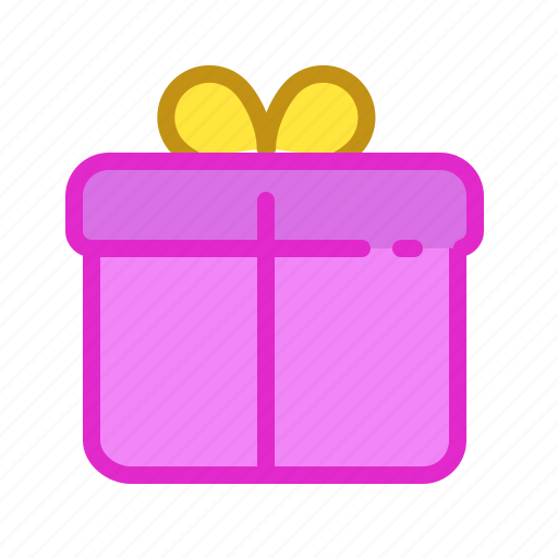 birth, box, day, pink, present icon
