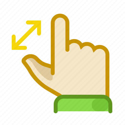 finger, gesture, hand, inerface, screen, touch, zoom icon