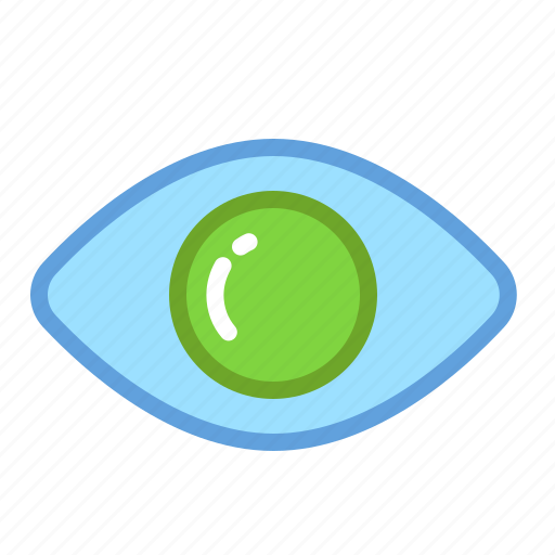 enabled, eye, glance, look, stare, visibility icon