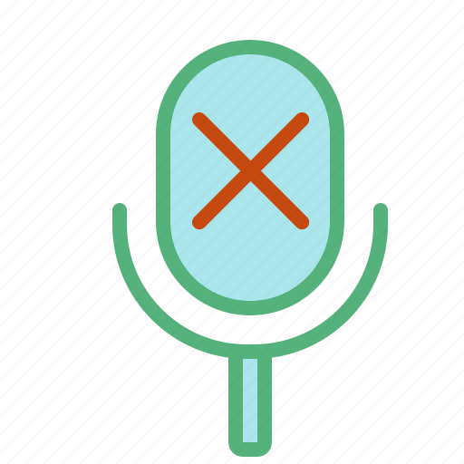 disabled, microphone, music, recording, sound, voice icon