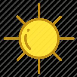 light, lightness, star, sun, weather icon