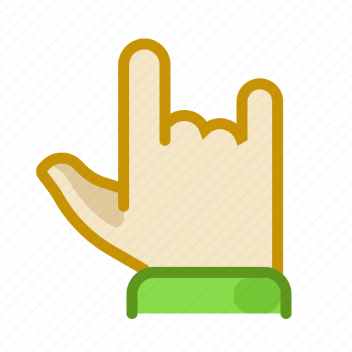 finger, gesture, hand, inerface, rock, screen, touch icon