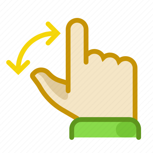 finger, gesture, hand, inerface, rotate, screen, touch icon