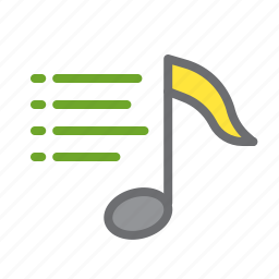 list, music, note, play, playlist, sign icon