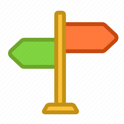 navigation, pointer, sign, signpost, way icon