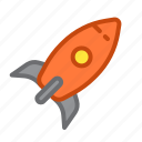 application, fast, launch, rocket, start, startup icon