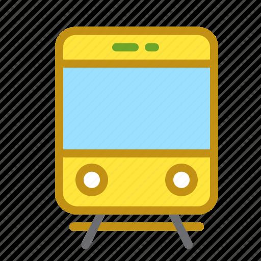 city, rails, railway, tram, transportation icon