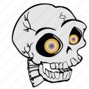 cartoon, haloween, skeleton, skull, spooky icon