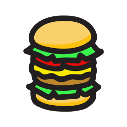 big mac, burger icon