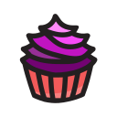 cupcake, dessert, food, sweet icon