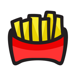 fast food, french fries, fries, snack icon
