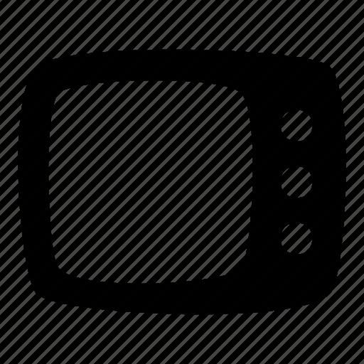 cartoon, media player, rectangle, screen, television, toon, tv icon