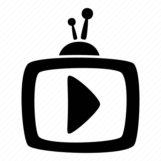 aerial, cartoon, media player, rectangle, television, toon, tv icon