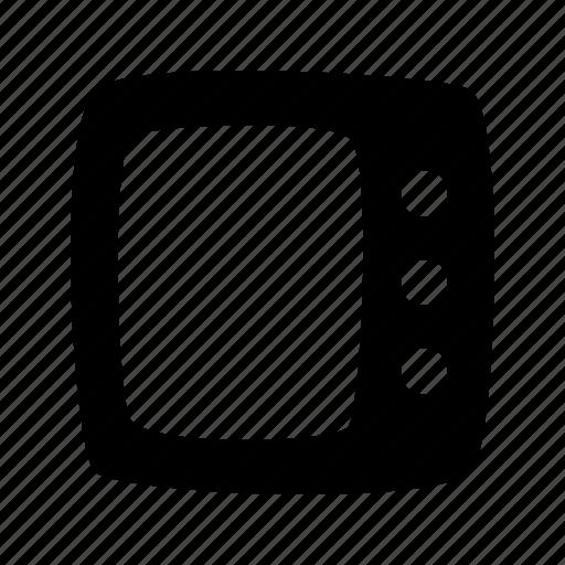 cartoon, media player, screen, square, television, toon, tv icon