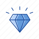 diamond, gem, gold, treasure icon