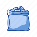 bag of coin, coins, money bag, payment icon