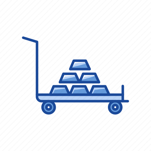 cart, cash, gold, gold on cart icon