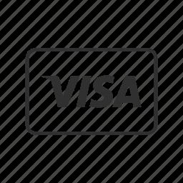 card, credit, credit card, credit card payment, visa, visa card, visa credit card icon