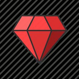 diamond, gem, jewelry, ruby icon