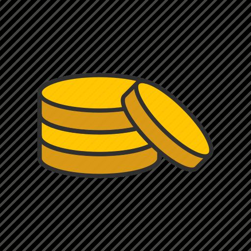 coins, gold, gold coins, money icon