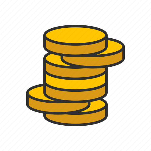 coins, gold, gold coins, money icon