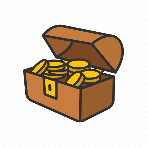 Chest, chest of gold, gold, treasure icon - Download on Iconfinder