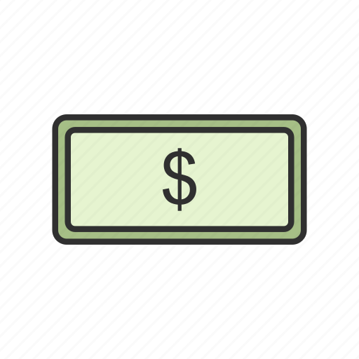 bill, cash, currency, dollars icon