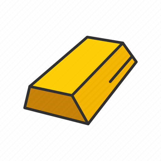 bar of gold, gold, gold bar, halcyon icon