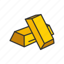 gold, gold bar, halcyon, treasure icon