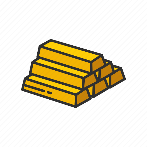 bars of gold brick of gold gold gold bar icon icon
