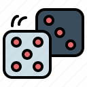 bet, casino, dice, dices, gambling icon