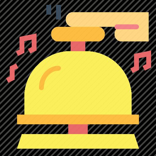 bell, desk, hotel, reception icon