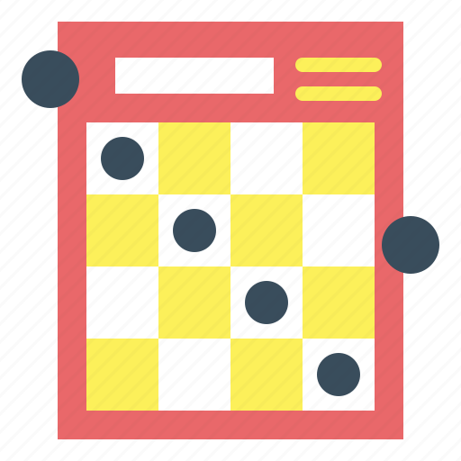 bingo, games, numbers, play icon