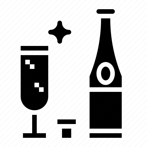alcohol, alcoholic, celebration, champagne, drinks icon