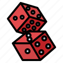 bet, casino, dices, gambling icon