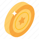 fancy game, casino chip, star coin, star chip, gold chip