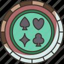blackjack, coin, casino, chips, money