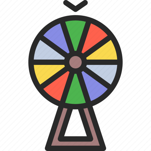 chance, fortune, luck, of, wheel icon