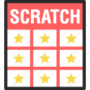 card, lottery, off, scratch, scratchie