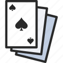 deck of cards, playing cards, spades suit
