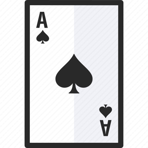 ace, card, of, spades icon