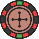 american, casino, roulette, wheel icon