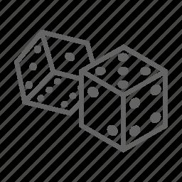 casino, dice, gambling, game, jackpot, leisure icon