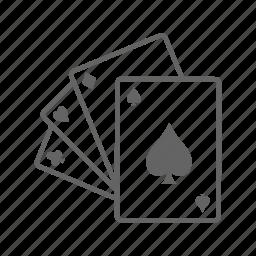 card, casino, gambling, game, jackpot, leisure icon