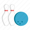 ball, bowling, bowling ball, hobby, leisure, pin, recreation icon