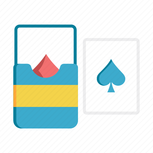 card, casino, deck, gambling, magic, poker, recreation icon