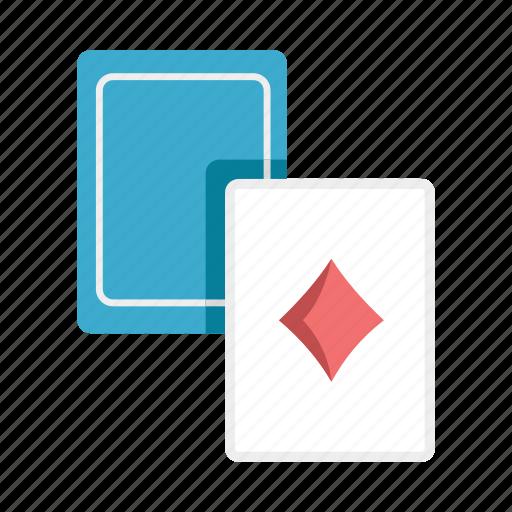 cards, casino, diamond card, gambling, magic, poker, recreation icon