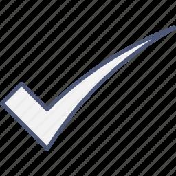 confirm, ok, v icon