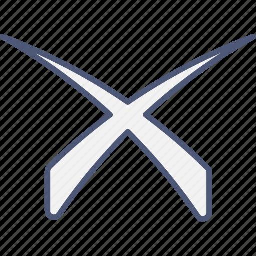 cancel, ignore, x icon